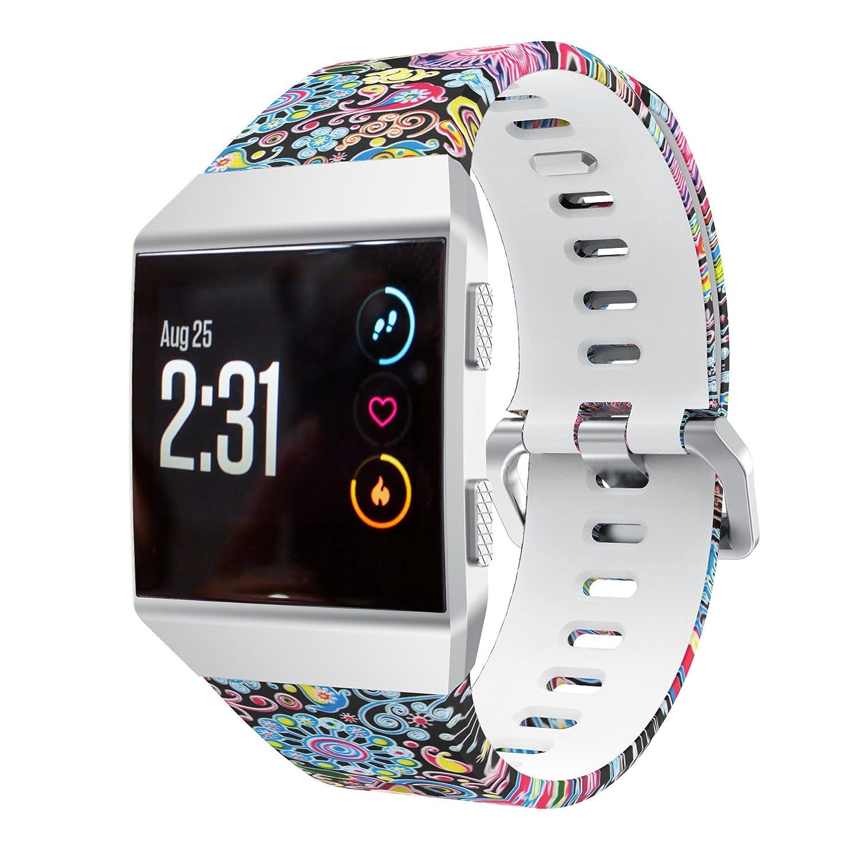 Amazon.com: Senter Fitbit Ionic Watch Band,Sport Strap Soft ...