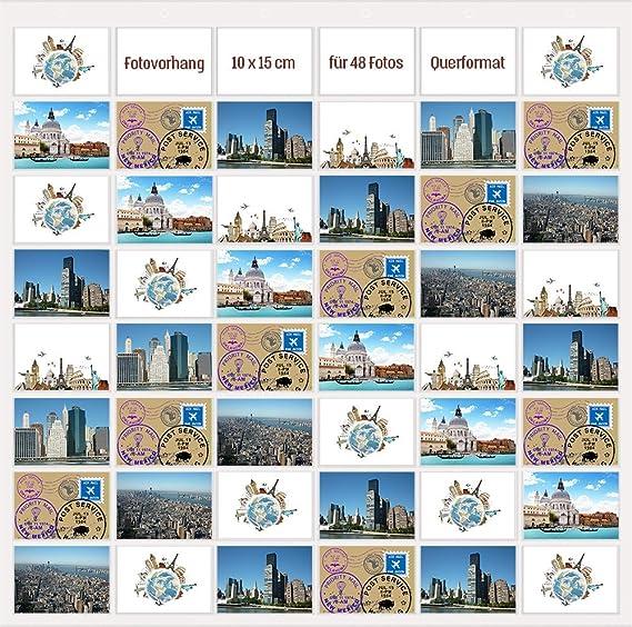 10 x 15 Fototaschen für 24 Fotos Fotowand Fotovorhang Fotogalerie Foto Galerie