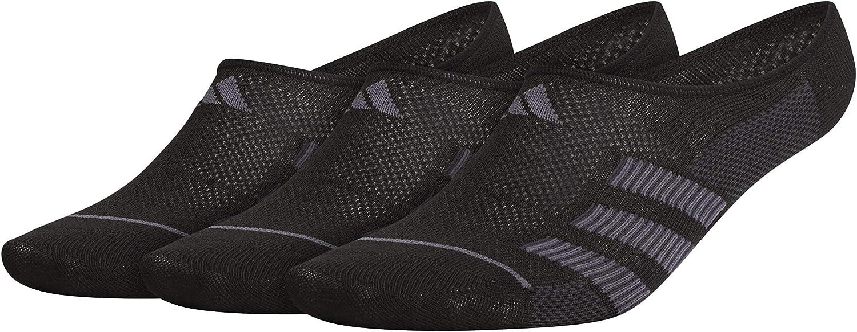 adidas Men's Superlite Stripe Super No Show Socks (3-Pair)