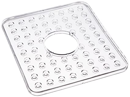 Charmant InterDesign Sink Mat, Hole In Middle, Clear