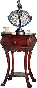 Design Toscano Loire Hourglass Side Table,Cherry