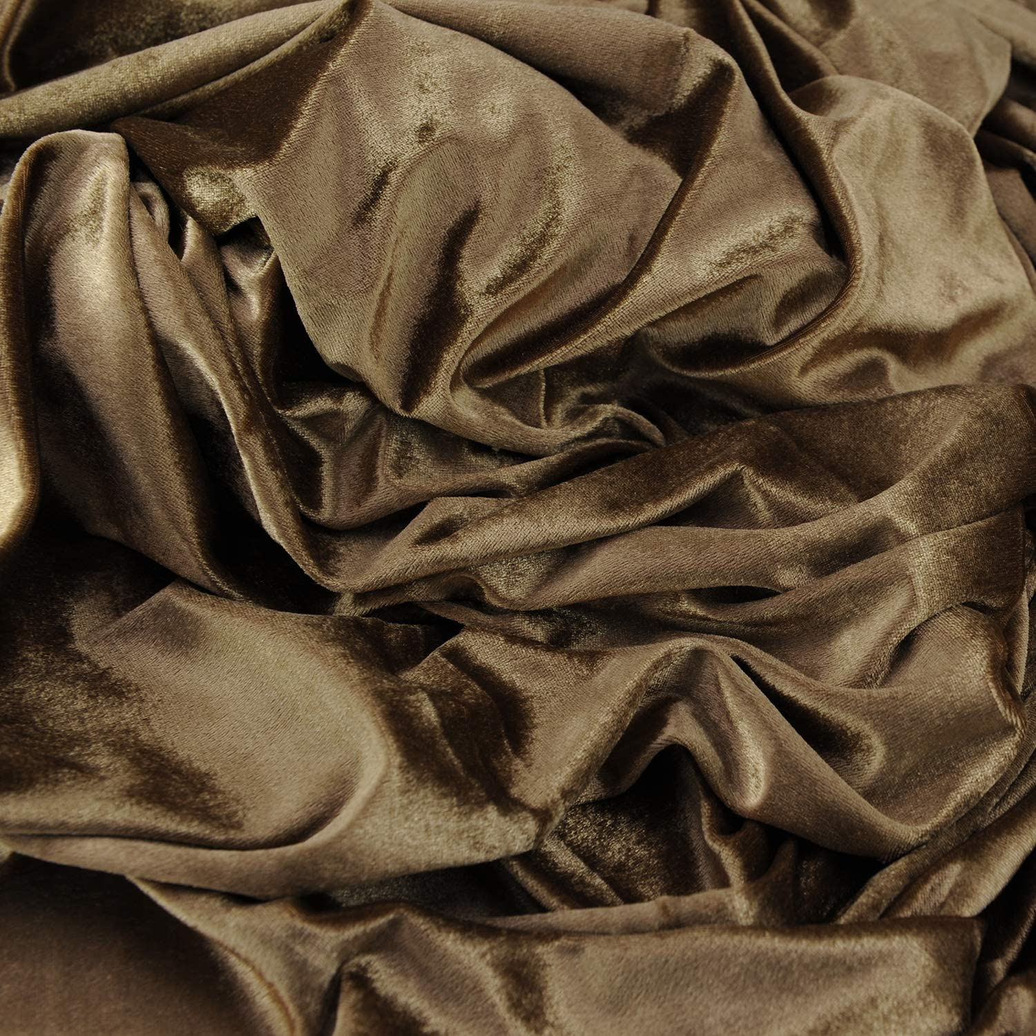 Stretch Velvet Fabric for Costumes and Crafting by The Yard Dark Khaki,1 Yard