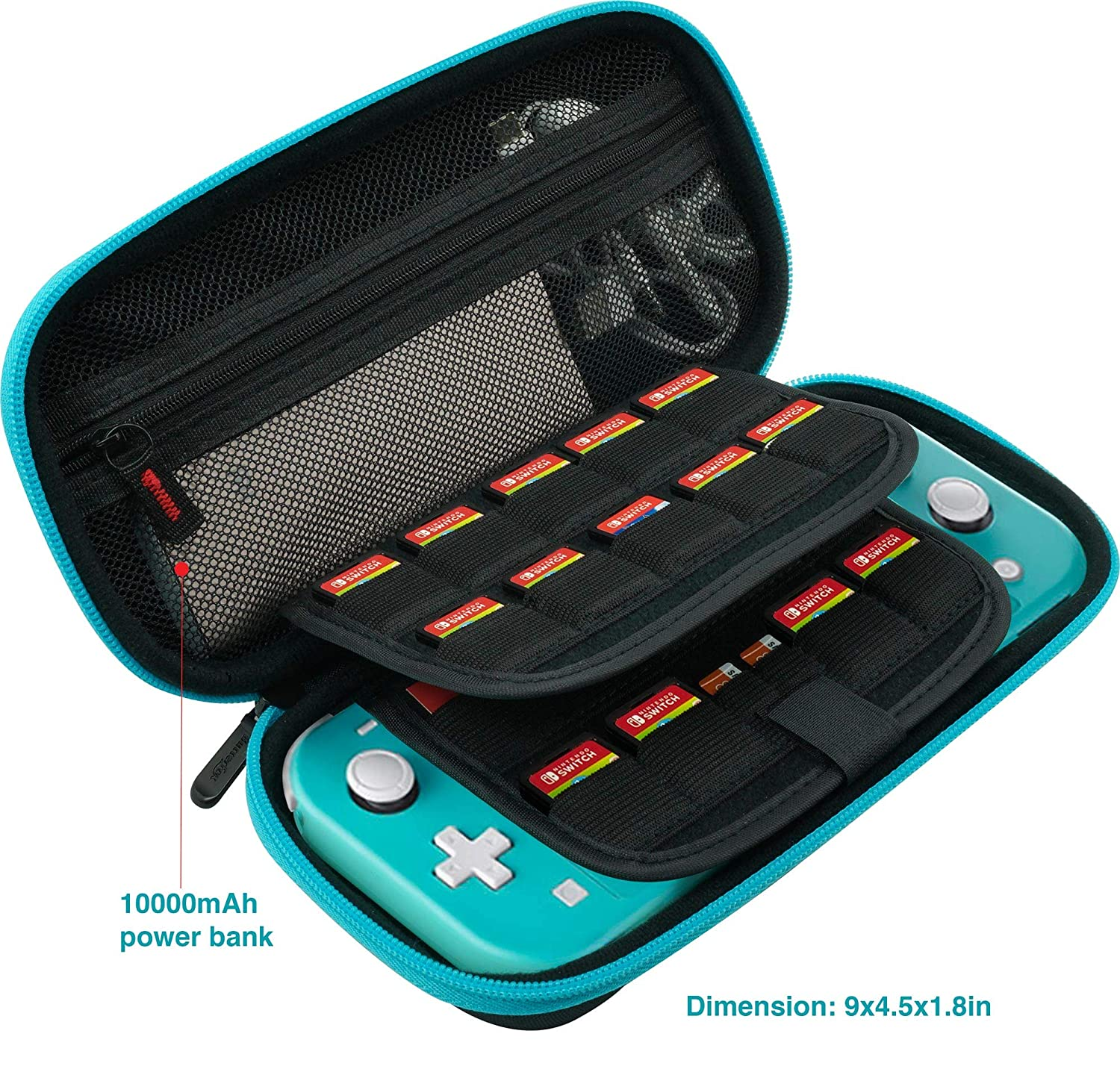 ButterFox Premium Carrying Case for Nintendo Switch Lite with 19 Game and 2 Micro SD Card Holders - Pink