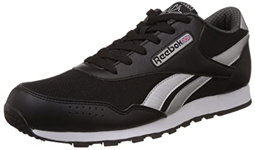 c8d9f79bed44d Reebok Classics Men s Classic Protonium Black and Grey PU Sneakers - 8 UK  India (