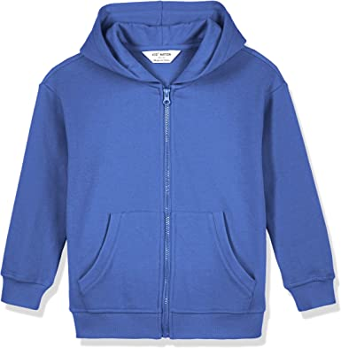 Kid Nation Kids Soft Brushed Fleece Zip-Up Hooded Sweatshirt Hoodie for Boys or Girls 4-12 Years