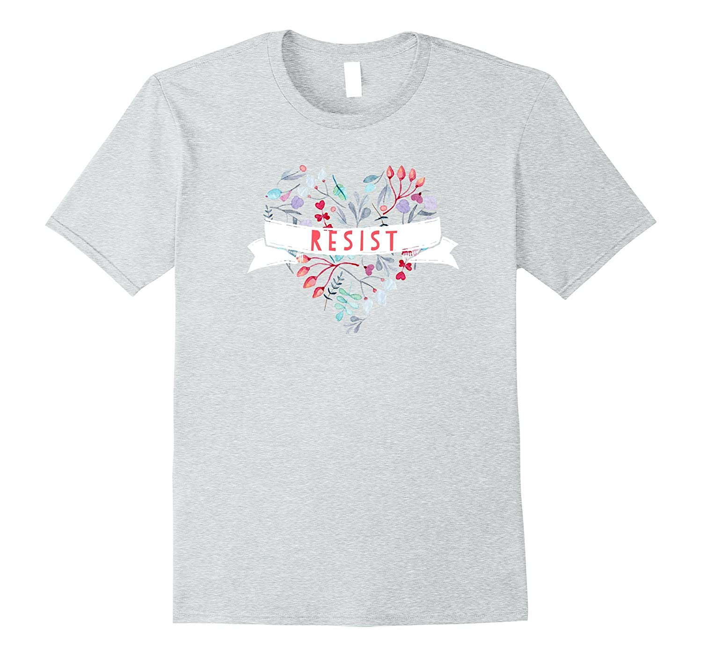 Cute Political Heart - Resist T-Shirt-CD