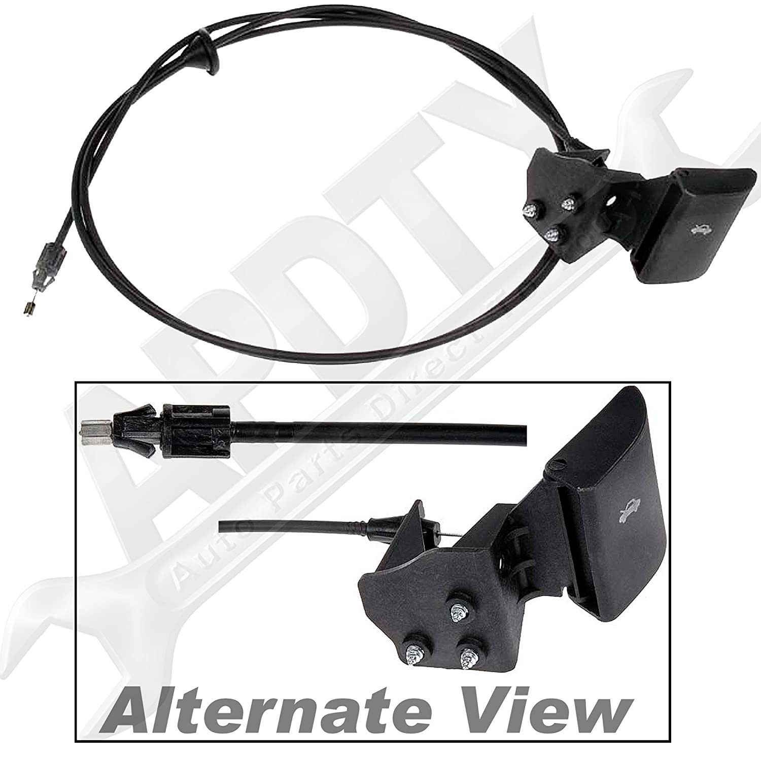APDTY 023198 Hood Release Cable With Handle Fits 2006-2009 Jeep Commander 2005-2009 Jeep Grand Cherokee Replaces 55394495AB, 55394495AC, 55394495AD, 55394495AA