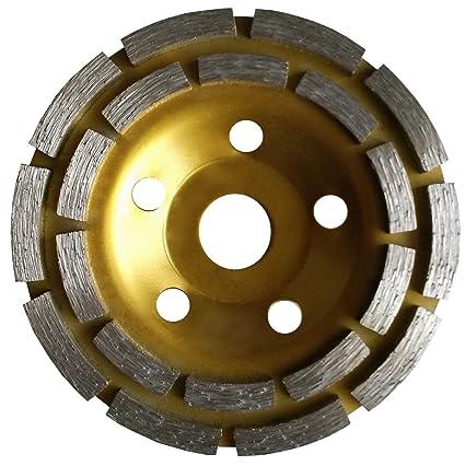 125mm Diamond Double Row Grind Cup Wheel concrete travertine 4 Piece X 5 Inch