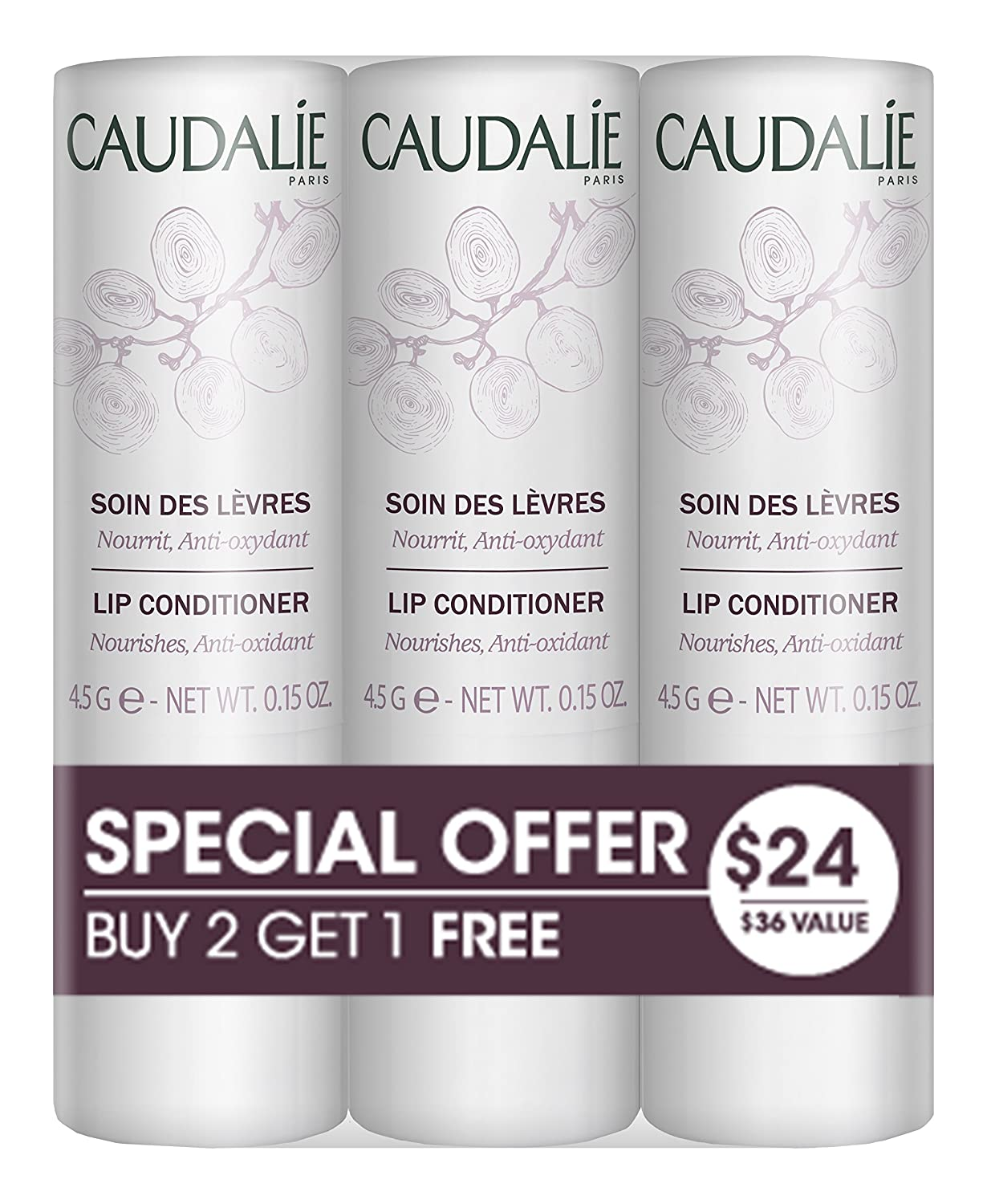 Caudalie Pack 2=3 Lip Conditioner 4, 5gr