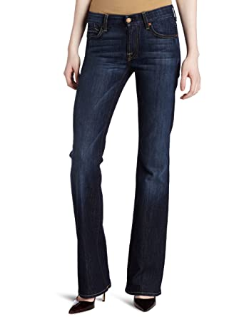 7 For All Mankind Womens Kimmie Classic Bootcut Jean In Midnight New York Dark