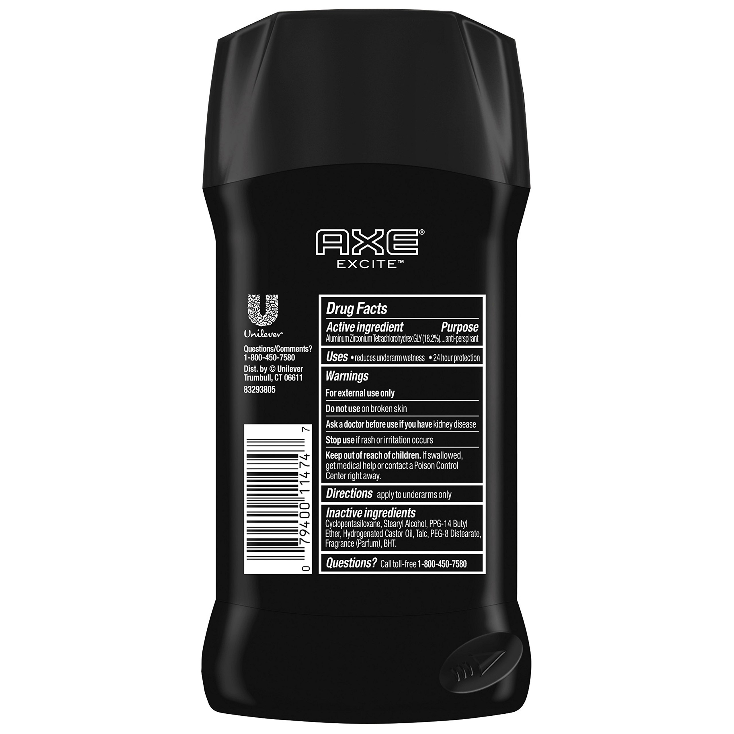 AXE Antiperspirant Deodorant Stick for Men, Excite, 2.7 Ounce (Pack of 6) by AXE (Image #2)