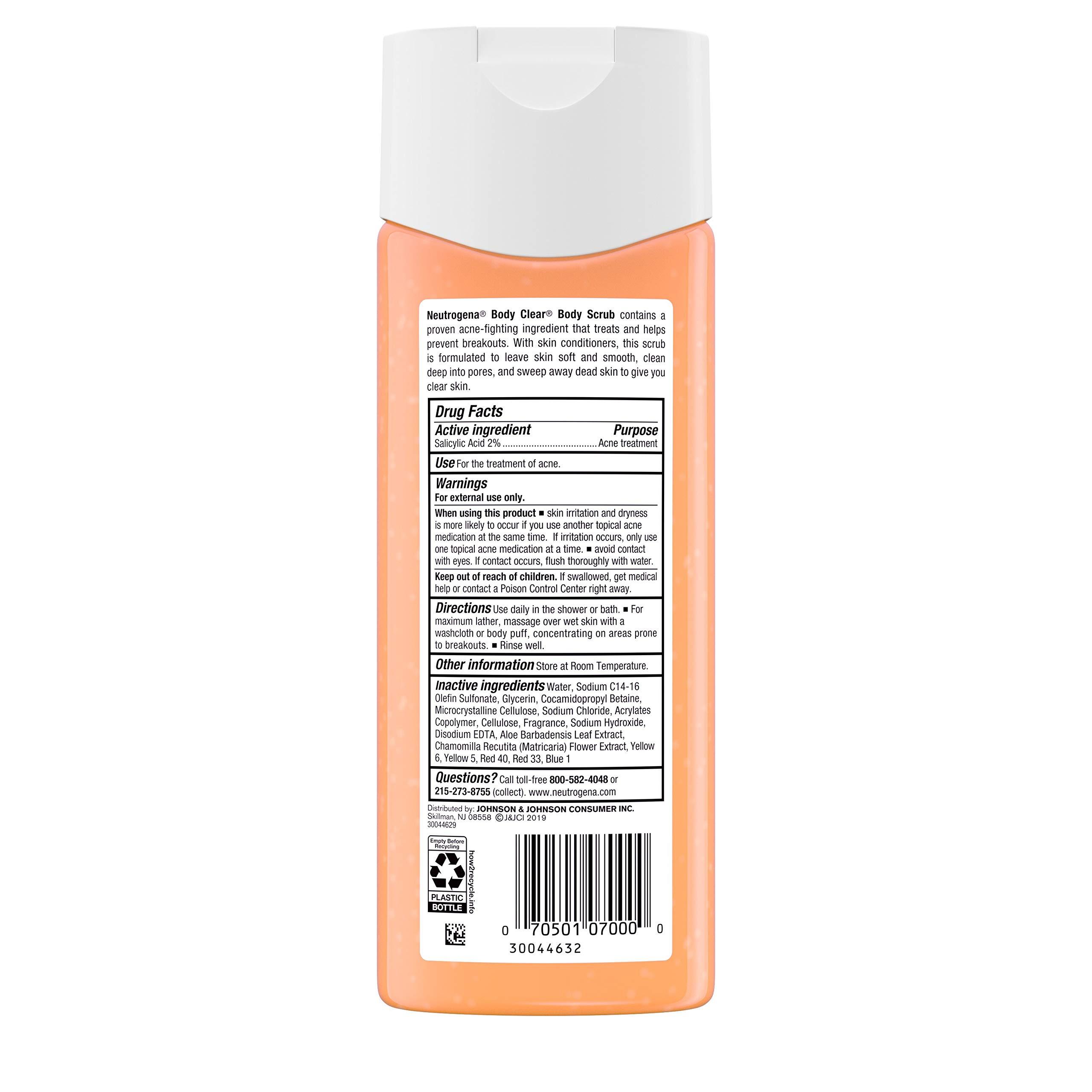 Neutrogena Body Clear Oil Free Acne Body Scrub With Salicylic Acid