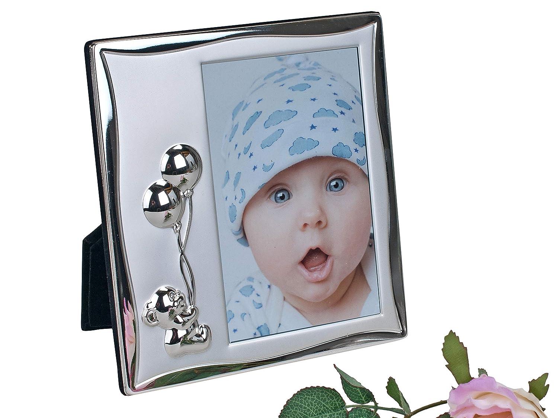 Moderner Kinder Fotorahmen Bilderrahmen Teddy aus Aluminium silber ...