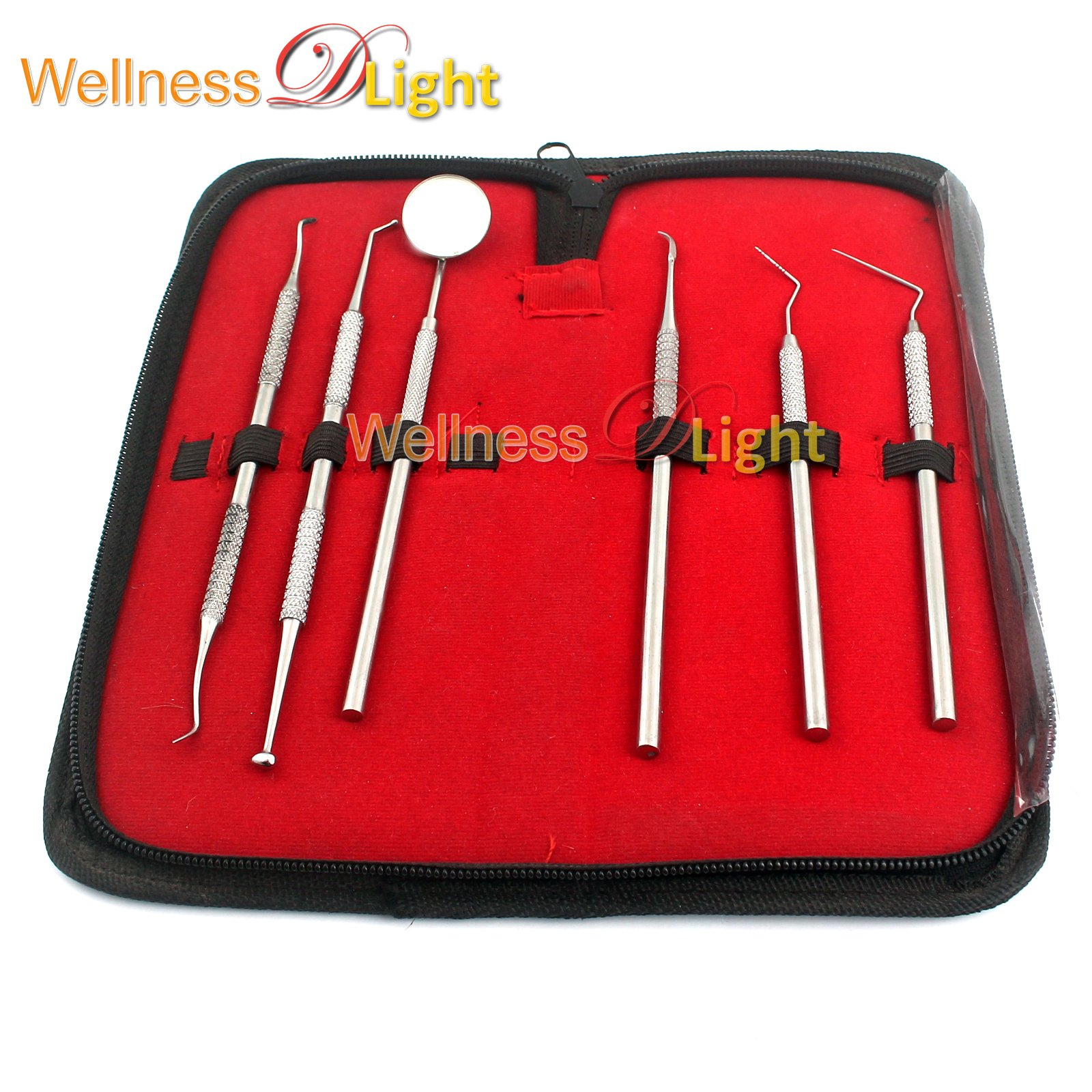 WDL DENTAL DENTIST PICK TOOL KIT 6 PIECE UP TO 8 TOOLS - DENTIST, DENTISTRY & ORAL KIT