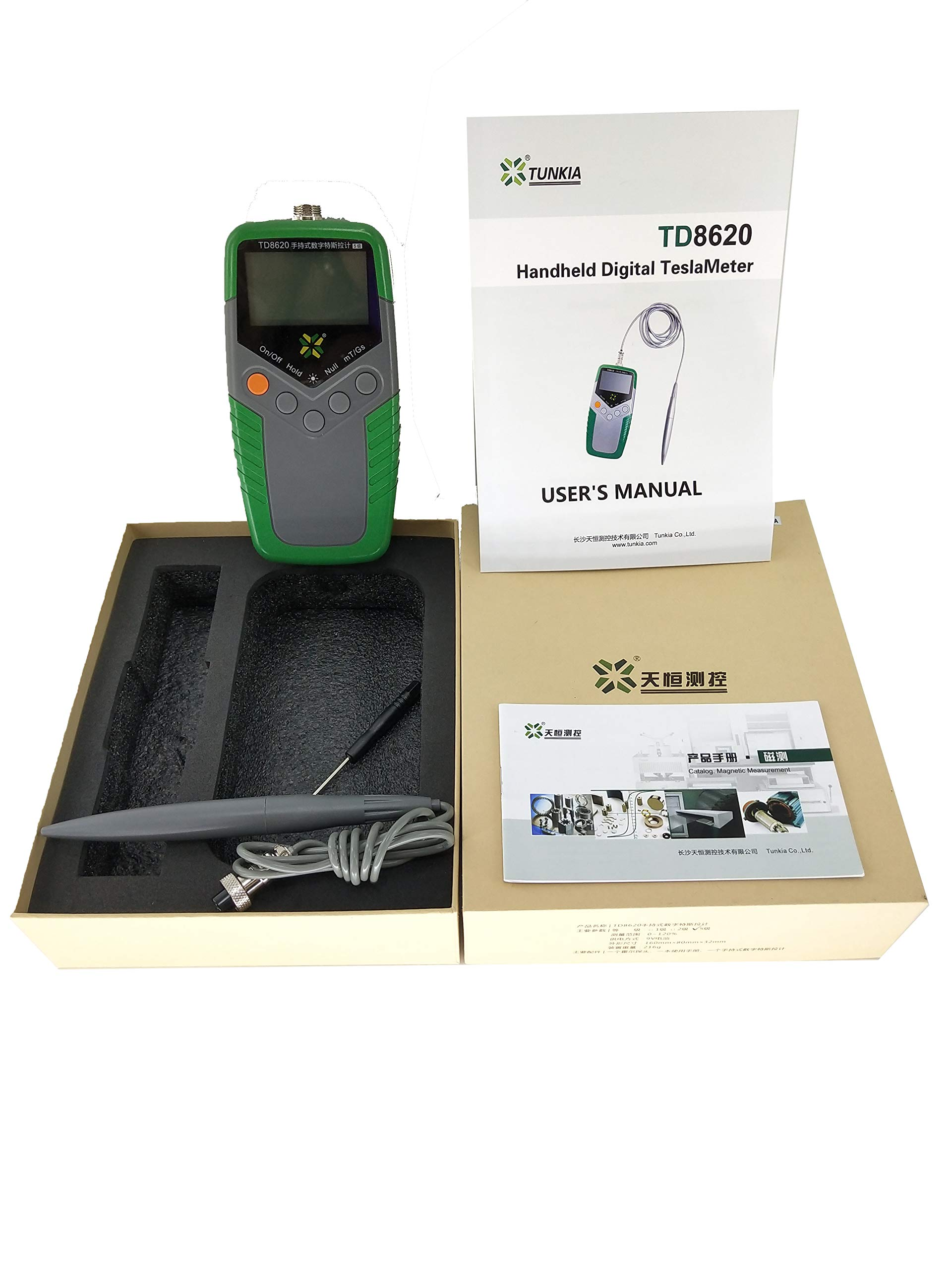 YFYIQI TD8620-5 Gauss Meter Tesla Meter Permanent Magnet Gaussmeter Surface Magnetic Field Tester with 5% Accuracy