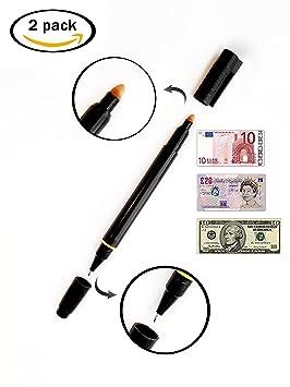 [1+1 GRATIS] Lápiz 2in1 Setproducts©: detectores de billetes falsos y bolígrafo / Indispensable [Euros / Libras / Dólares ..]: Amazon.es: Oficina y ...