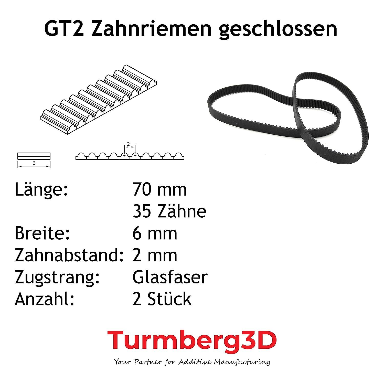 80mm GT2 geschlossener Zahnriemen 6mm breit je 2 St/ück