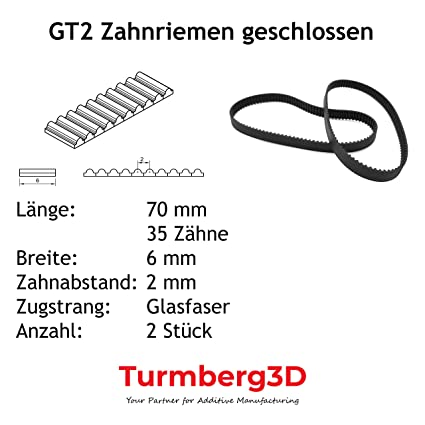 Color : 720mm X 2PCS ZHaonan-Zahnriemen 3D Druckerg/ürtel schwarz offener Zahnriemen GT2-6mm Gummi-Aramidfaser XY-Achsen-L/ängeng/ürtel Ersatzteile