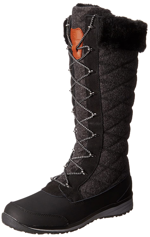 Salomon Women's Hime High Snow Boot B00GHV7KOK 9 B(M) US|Black/Asphalt/Pewter