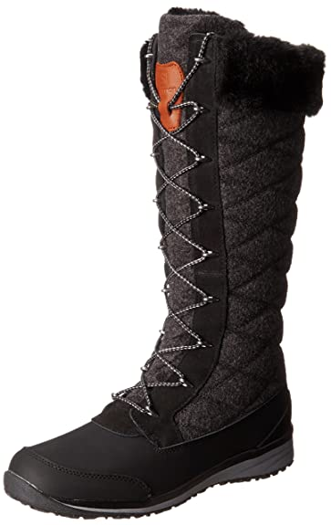 Salomon Womens Hime High Snow BootBlack Asphalt Pewter5