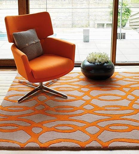 Teppich Wohnzimmer Carpet modernes Design Matrix Wire Wellen Rug 100 ...