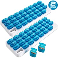 Monthly Pill Organizer - (Pack of 2) 31 Day Pill Organizer with Large Removable Medication Pods, Portable Pill Case Box and Holder for Daily Medicine and Vitamins, Great for Travel