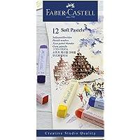 Giz Pastel Seco Macio Longo Goldfaber 12 Cores, Faber-Castell