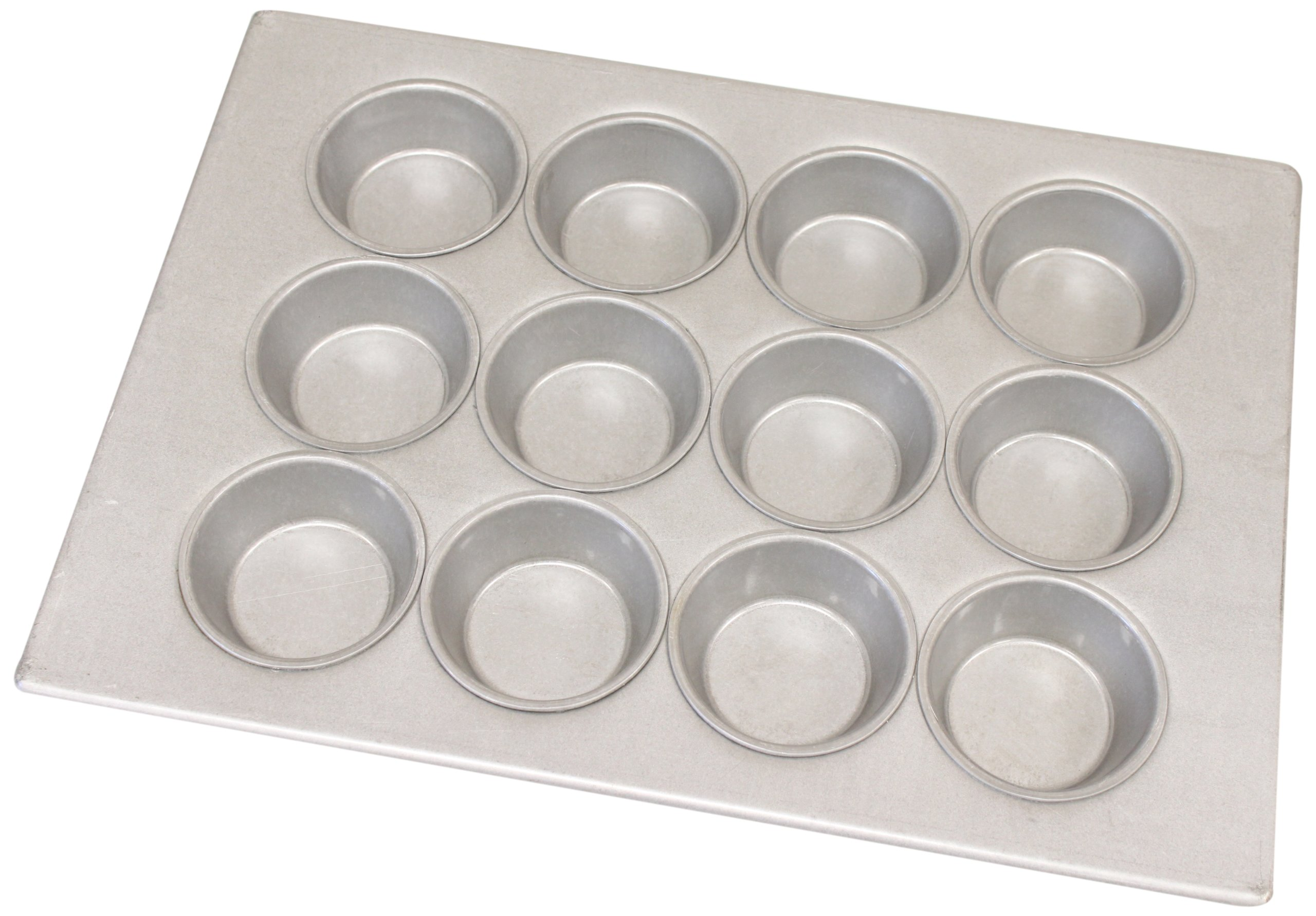 Magna Industries 15310 22-Gauge Aluminized Steel Large Muffin Pan, 3-1/4'' Diameter, 3 x 4 Cups Layout (Pack of 12)