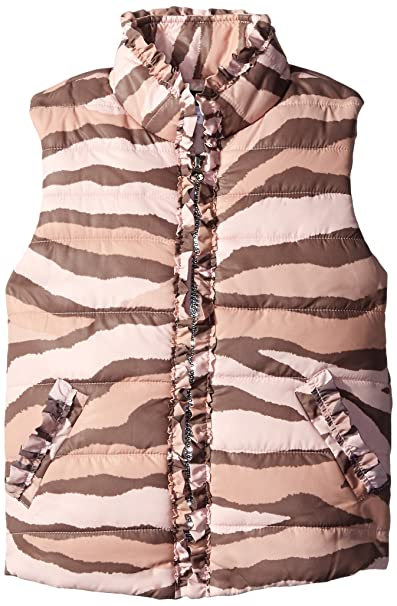 Kate Mack Girls Little Zebra Print Puffer Vest