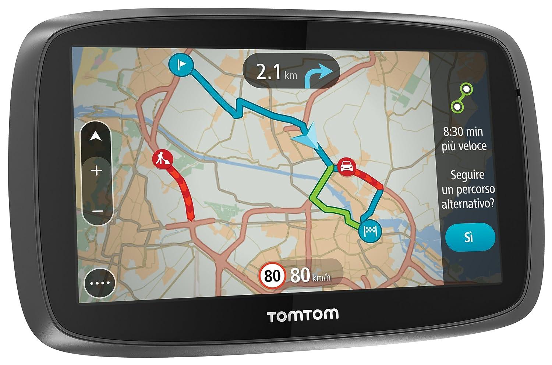 """TomTom GO 510 World GPS per Auto 5"""" con Segnalazione Traffico, Tutor e Autovelox 1FA5.002.58 mappa navigatore"""