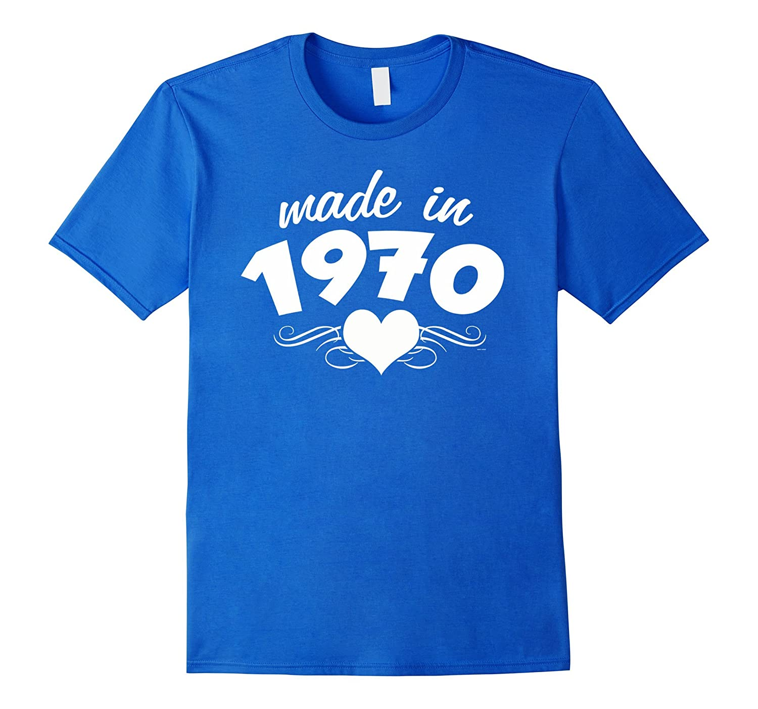 Gifts for her 47th birthday Made in 1970 woman tshirt