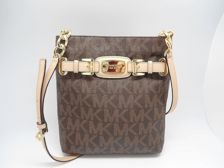 477286f19165c9 MICHAEL Michael Kors Hamilton Large Crossbody MK Sig PVC: Amazon.co.uk:  Shoes & Bags