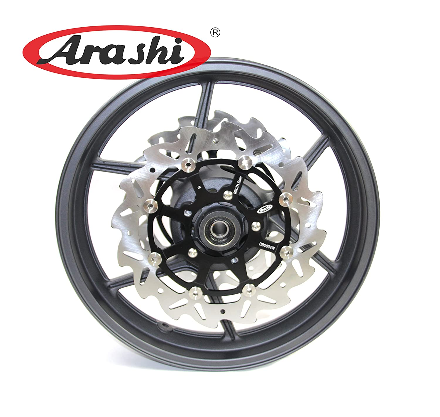 Amazon.com: Arashi Front Wheel Rim Brake Rotors for Kawasaki ...