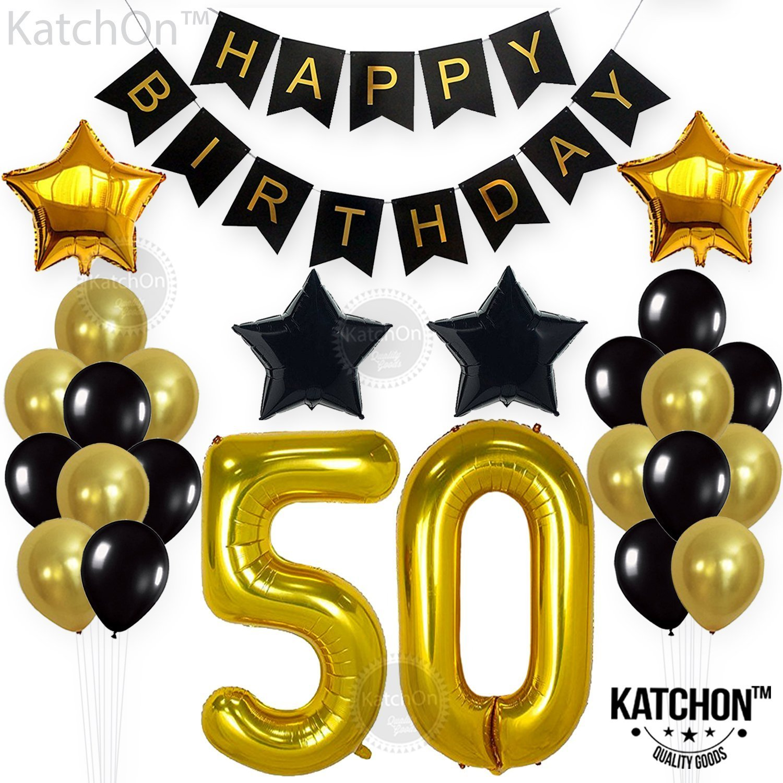 50th Birthday Decorations Balloon Banner
