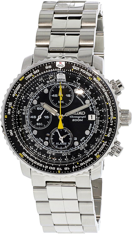 Amazon.com: Seiko Men\'s SNA411 Flight Alarm Chronograph Watch: Seiko ...