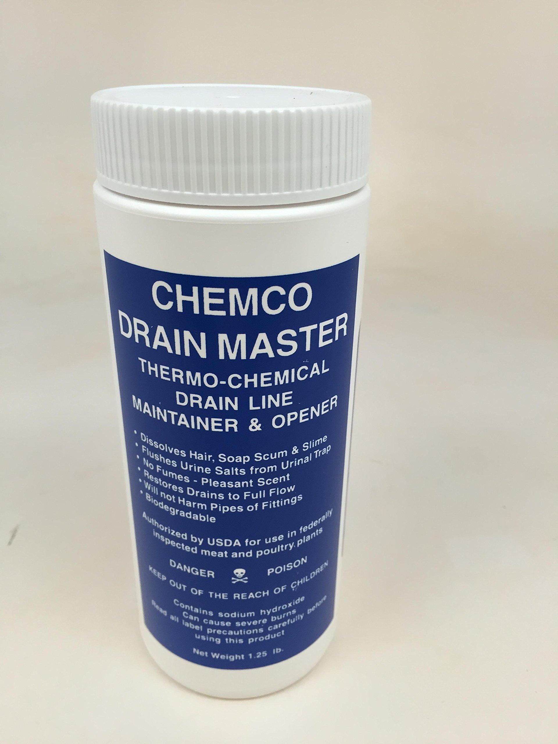 Drain Master, Granular Drain Opener, 12/16 Oz bottles per case by Chemco Industries