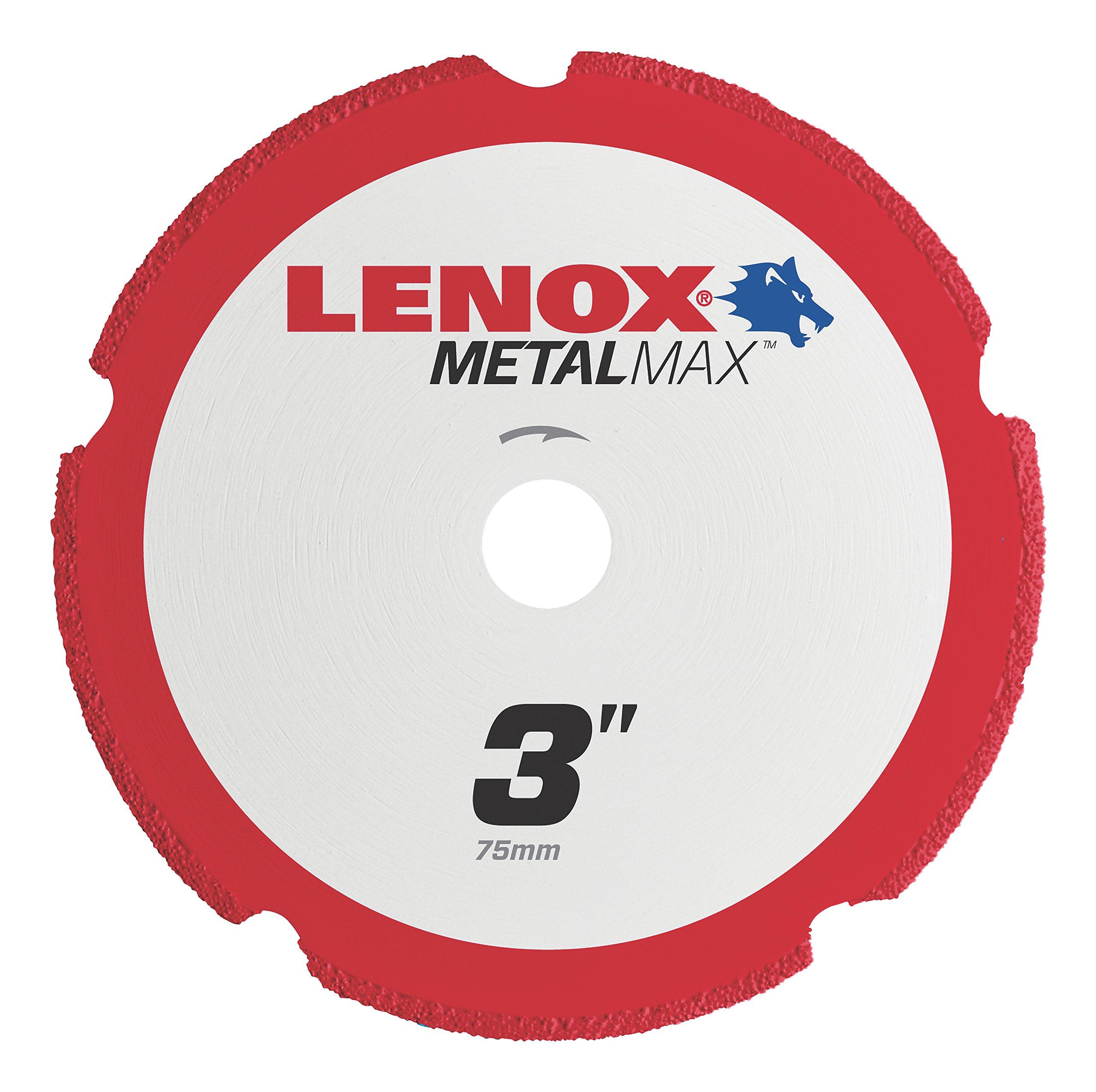 Lenox Tools 1972918 METALMAX Diamond Edge Cutoff Wheel, 3'' x 3/8'' by Lenox Tools