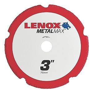 "Lenox Tools 1972918 METALMAX Diamond Edge Cutoff Wheel, 3"" x 3/8"""