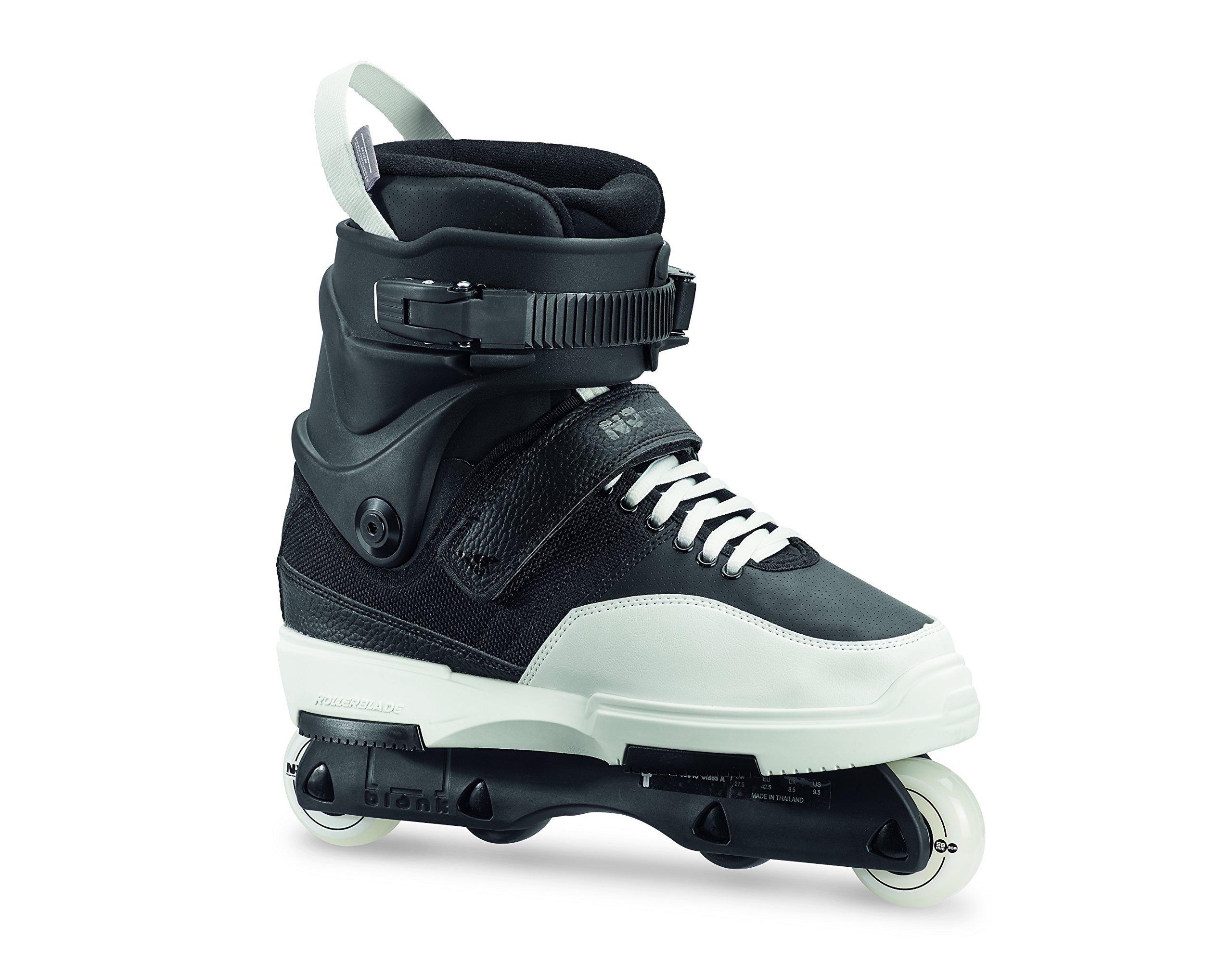 Rollerblade Men's Nj Team Street Inline Skate, Black/White, Size 12.5