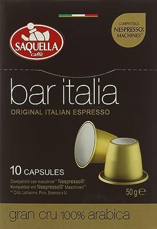 c07a76280aadde Saquella Caffès Bar Italia Gran Cru Nespresso Compatible Coffee ...