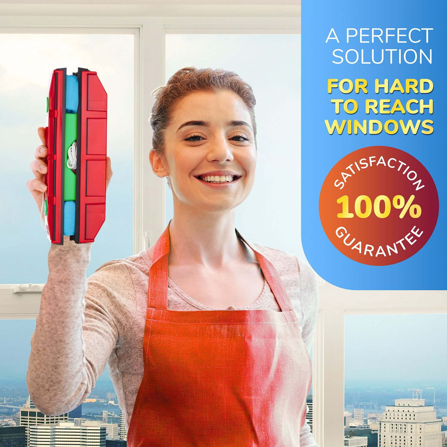 The Glider D-3, Magnetic Window Cleaner for Double Glazed Widows up to 1-1/8'' window thickness by Tyroler Bright Tools (Image #5)