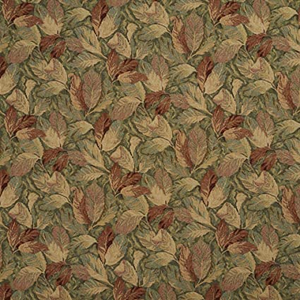 Amazon Com F935 Burgundy And Green Floral Leaves Tapestry