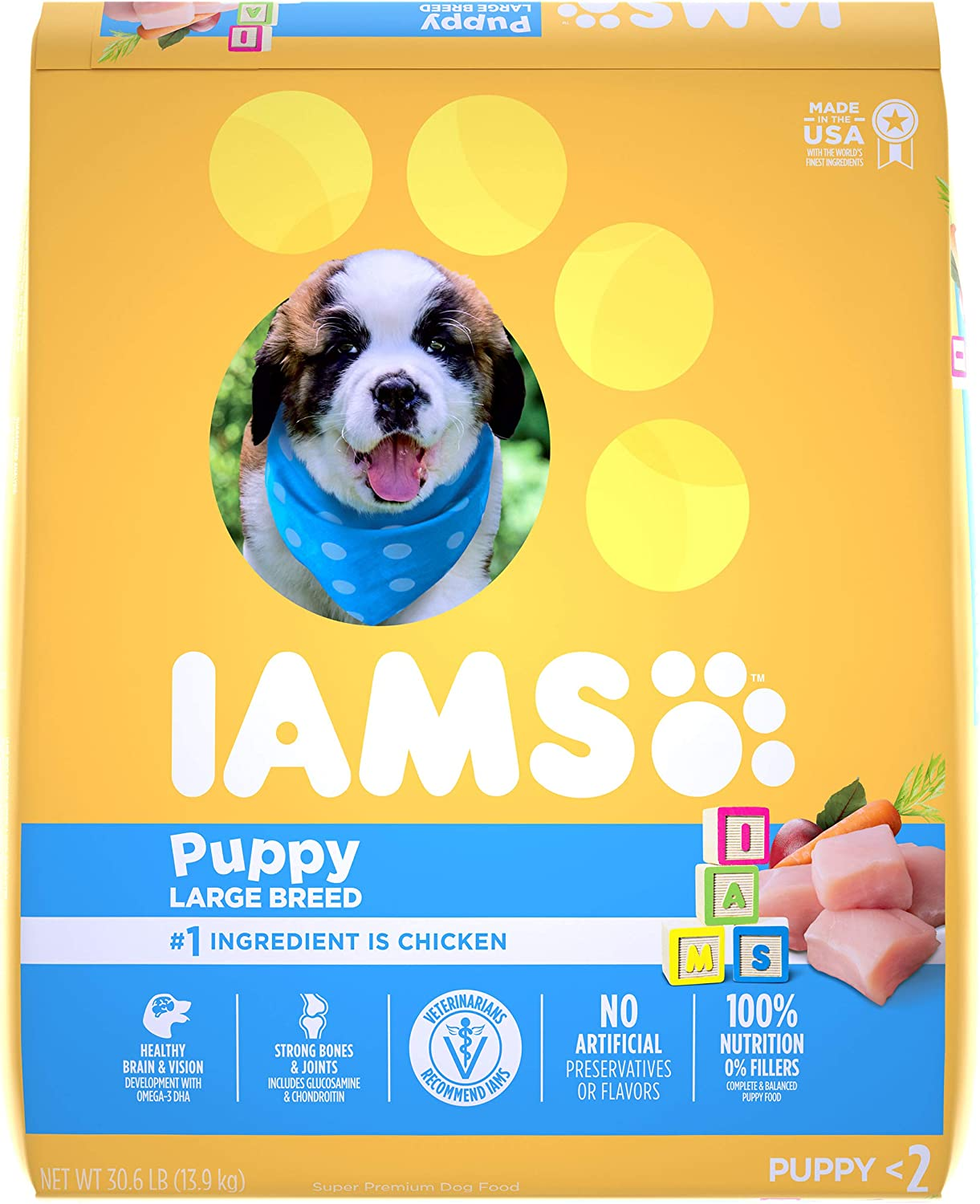 Iams Proactive Health Puppy Dry Dog Food, Chicken, All Breed Sizes