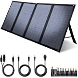 iClever 100W Foldable Solar Panel Charger for Jackery/EF ECOFLOW/ROCKPALS Portable Power Station Generator, Quick Charge 3.0,