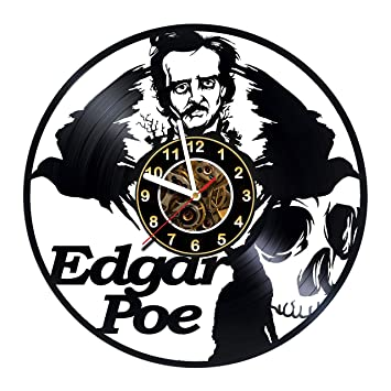 Amazoncom Iskra Shop Edgar Allan Poe Vinyl Clock Wall Decor