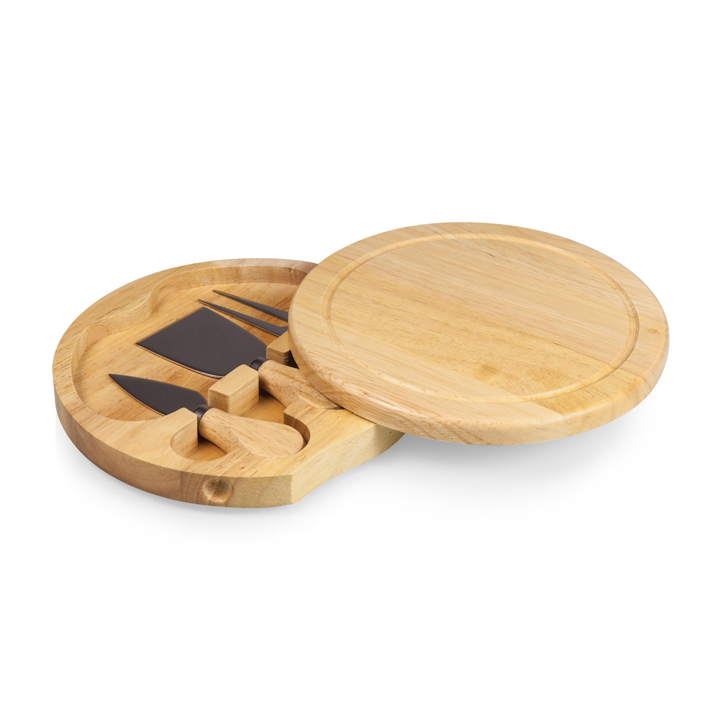 TOSCANA - a Picnic Time Brand Brie 7-1/2-Inch Cheese Board with Cheese Tools by TOSCANA - a Picnic Time brand