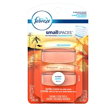 Febreze Small Spaces Hawaiian Aloha Refills Air Freshener, 11 ml, 2 ...