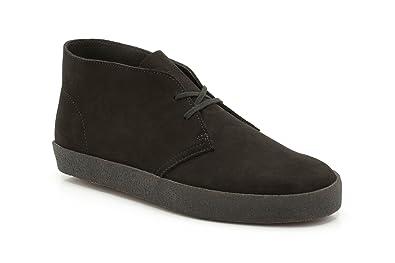 Clarks Originals Mens Preston Desert Black Suede Boots 12 UK