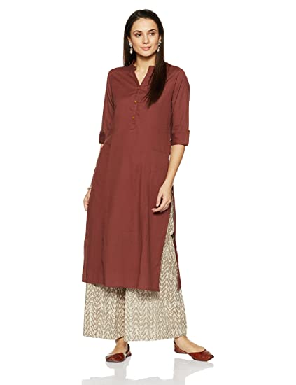 Myx Womens Cotton Straight Kurta Kurtas at amazon