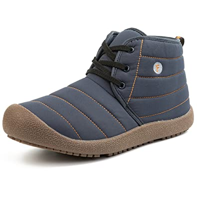 JOINFREE Women's Men's Waterproof Spring Boots Cozy Lining Shoe With Oxford  Cloth Vamp Blue 5.5 B